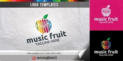Music Fruit - Logo Template