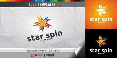 Star Spin V1 - Logo Template