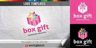Box Gift - Logo Template