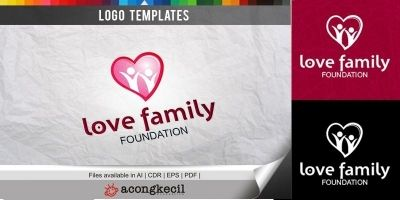 Love Family - Logo Template