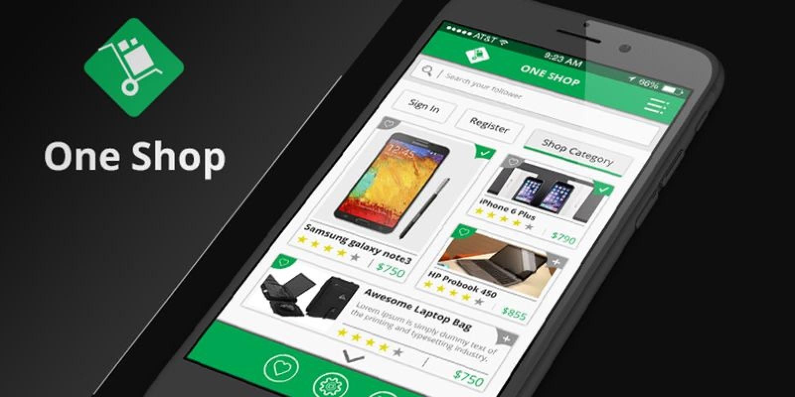 Online Shop & Social Communication iOS App UI Kit