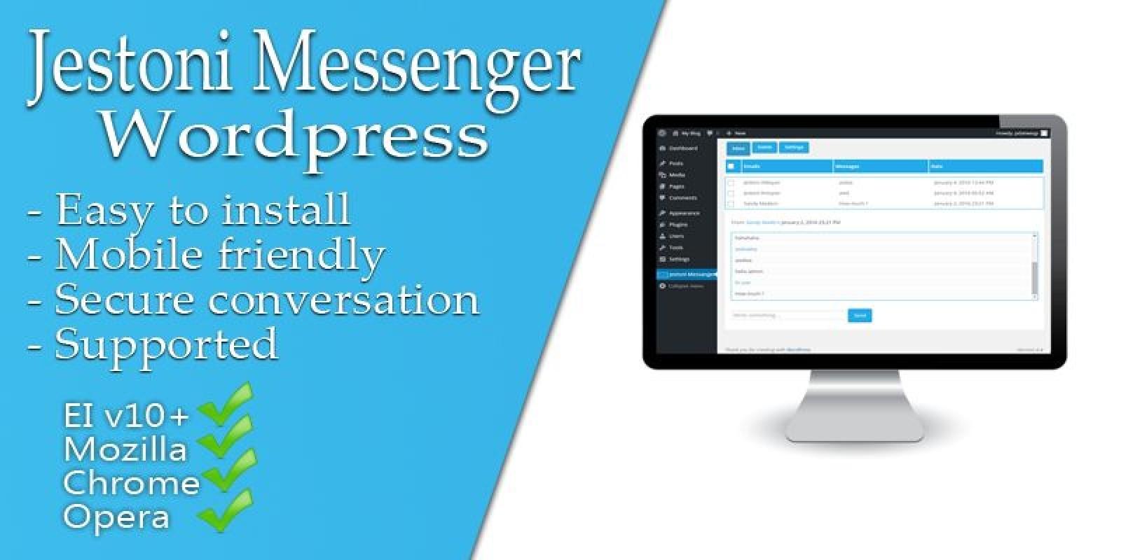 Jestoni Messenger - WordPress Plugin