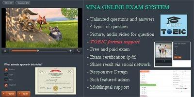 Vina Online Exam System - PHP Script