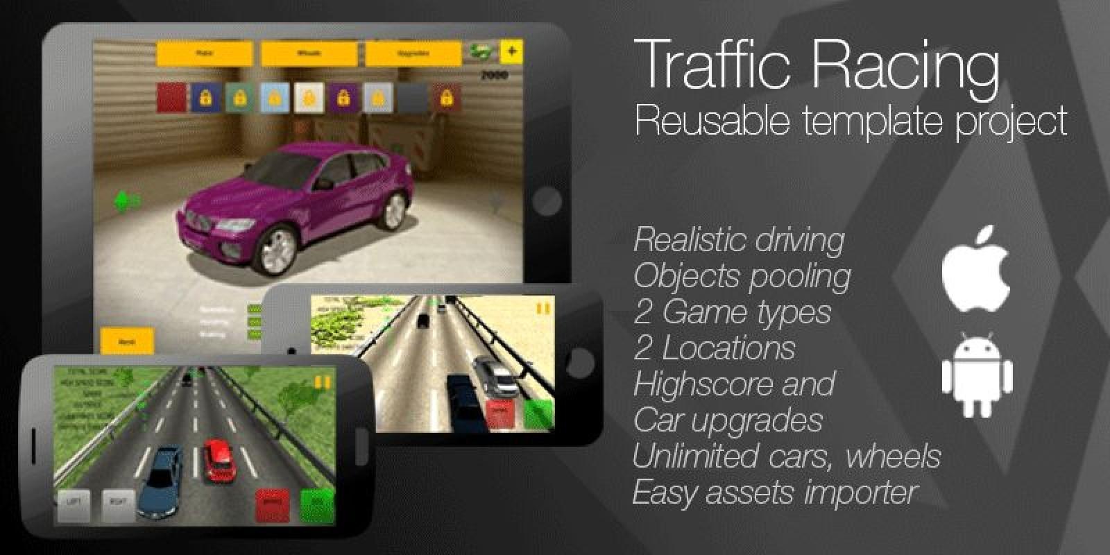 Traffic Racing - Unity Game Source Code
