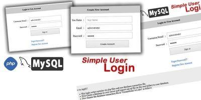 Simple User Login - PHP Script