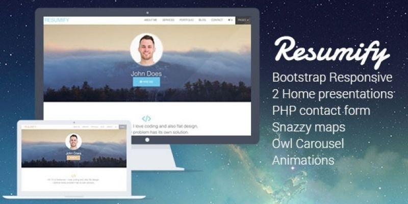 Resumify - Responsive Resume HTML Template