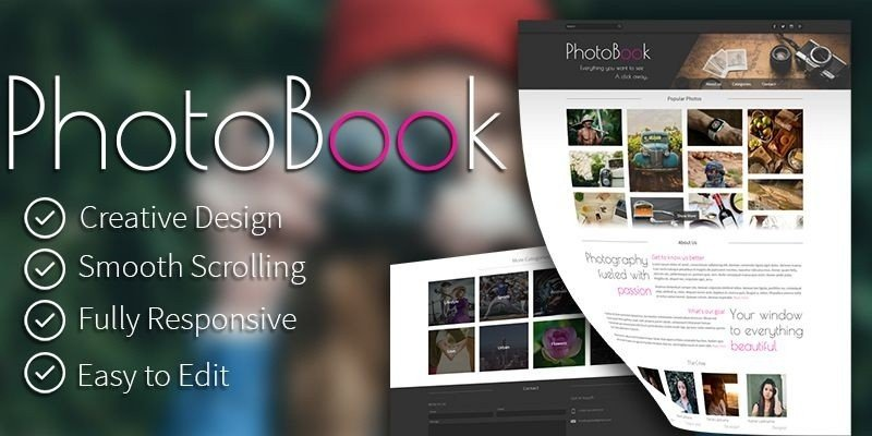 PhotoBook - Photography HTML Template