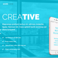 Azure - One Page Marketing  HTML Template