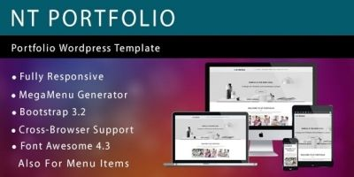 NT Portfolio – Portfolio Wordpress Theme