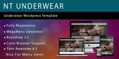 NT Underwear – Fashion WordPress Theme