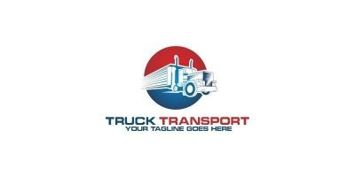 Truck Transport - Logo Template