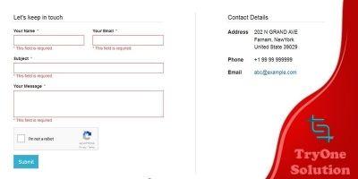 AJAX Multi-language Contact Form - PHP Script