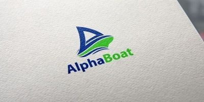 Alpha Boat - Logo Template