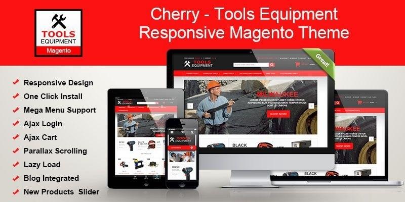 Tools Equipment Responsive Magento Theme