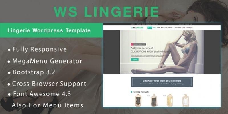 WS Lingerie –Underwear WooCommerce Theme
