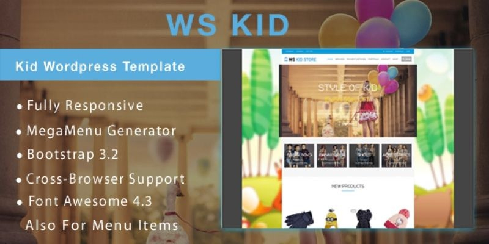 WS Kid –  WooCommerce Wordpress Theme