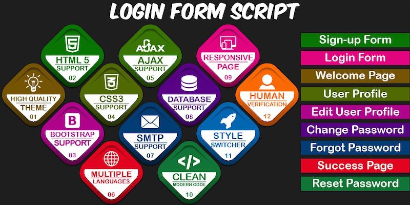Simple Login & Register - PHP Script