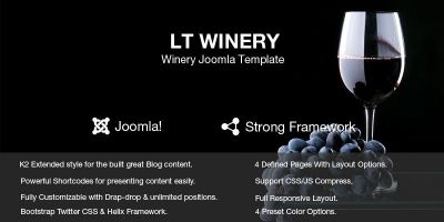 LT Winery – Wine Store Joomla Template