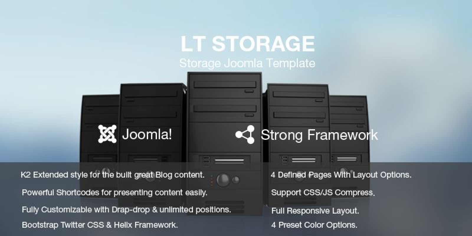 LT Storage – Server Hosting Joomla Template