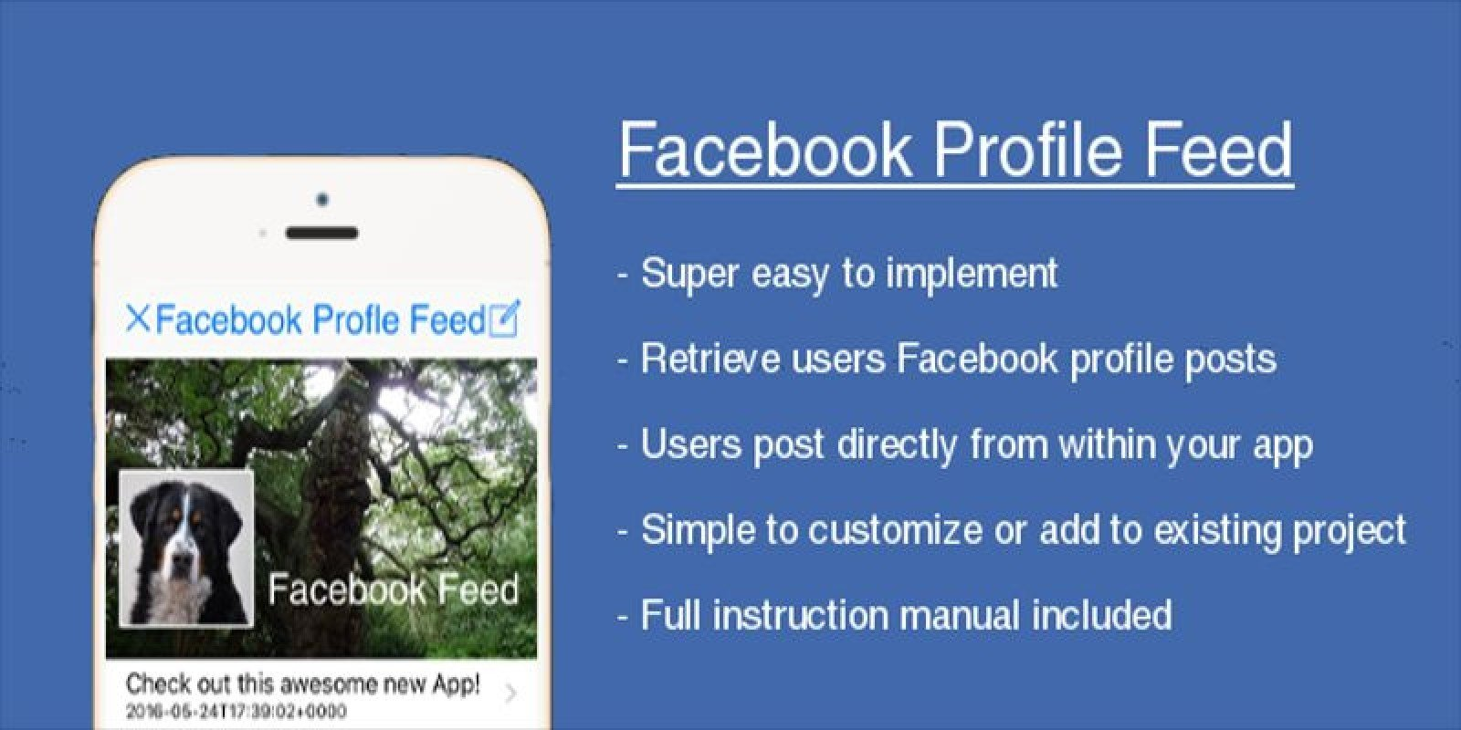 Facebook Profile Feed - iOS Template