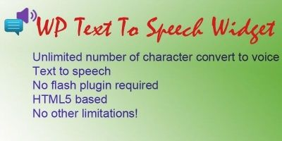WP Text To Speech Widget - WordPress Plugin