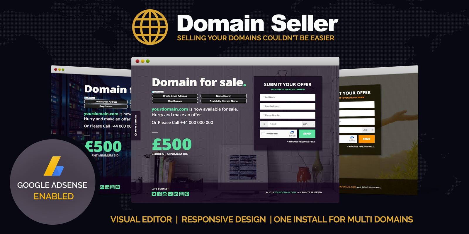 Domain Seller - Domain For Sale PHP Script