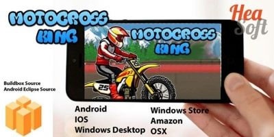 Motocross King - Android Buildbox Game Template