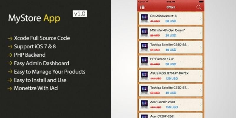 MyStore - iOS Webshop App Source Code
