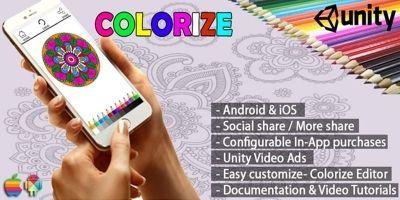 Colorize Coloring App – Unity Source Code