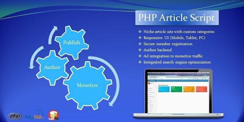 PHP Article Script -  Article Publishing Platform
