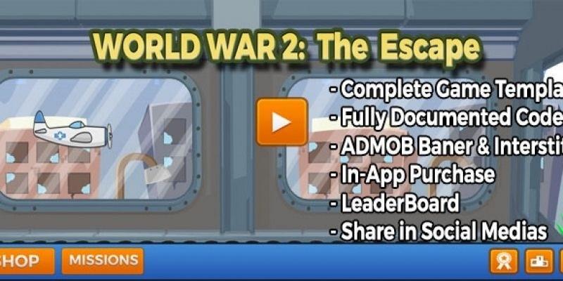 World War 2 The Escape - Unity Source Code