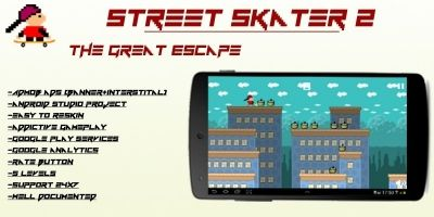 Street Skater 2 - Android Game Source Code