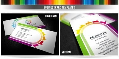360 Circle - Premium Business Card Template