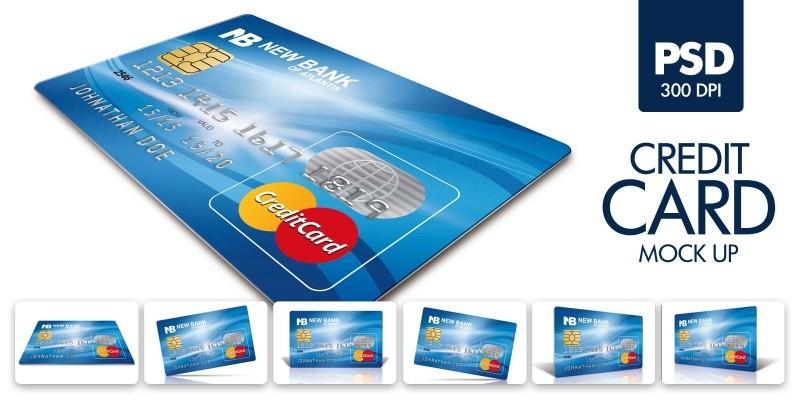 Plastic Credit Card Mockup Template