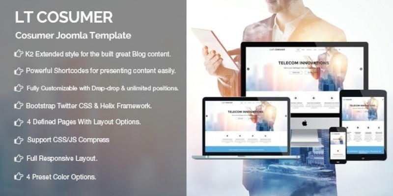 LT Comuser – Premium  Joomla Template