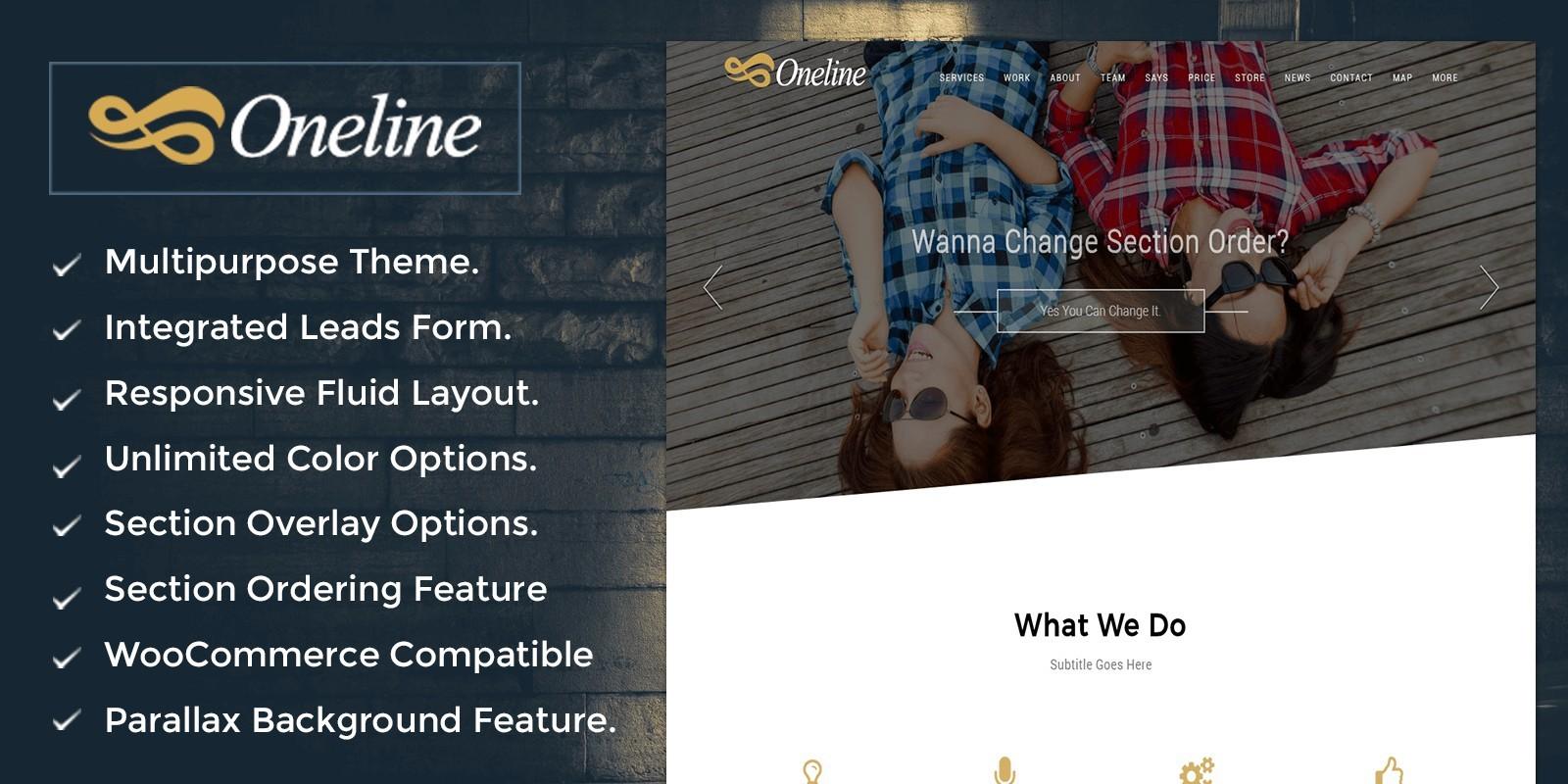 OneLine – Multipurpose WordPress Theme