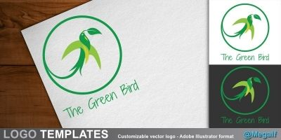 The Green bird - Logo template