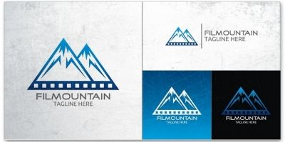 Film Mountain Logo Template