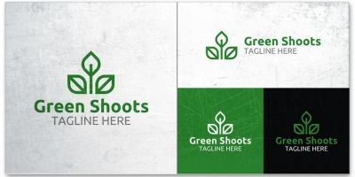 Green Shoots - Logo Template