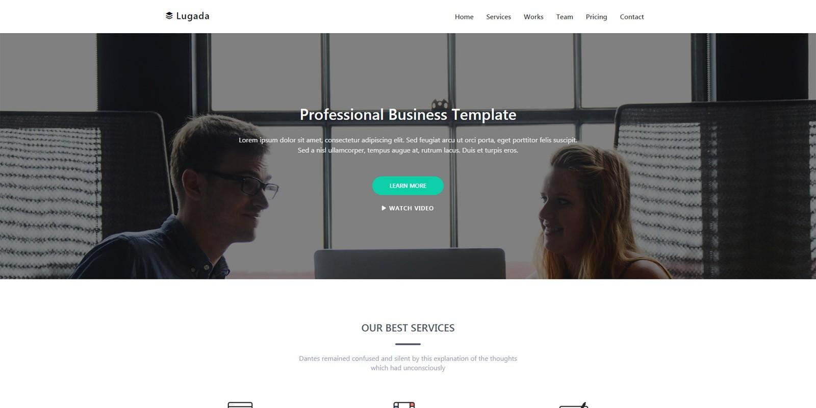 Lugada – Multi-purpose Landing Page Template