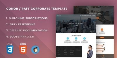 Conor Raft - Corporate Website Template