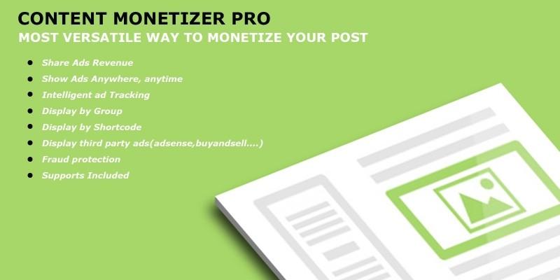 Content Monetizer Pro - WordPress Plugin