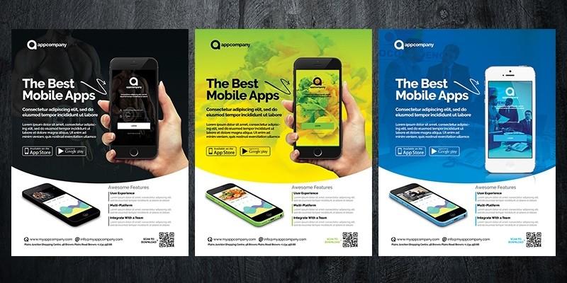Mobile App Flyer Template