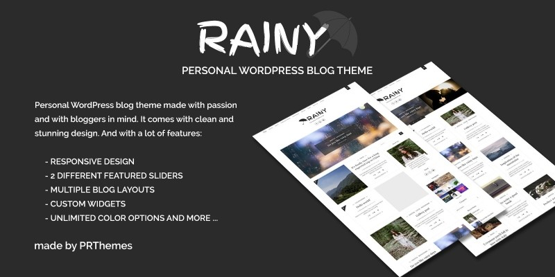 Rainy - WordPress Blog Theme
