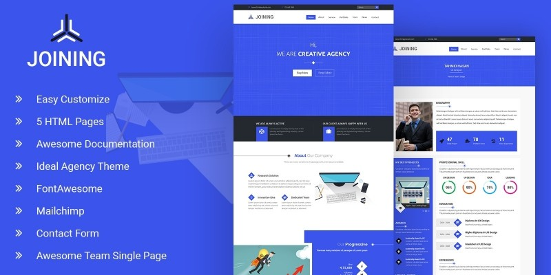 Joining - Agency HTML Template