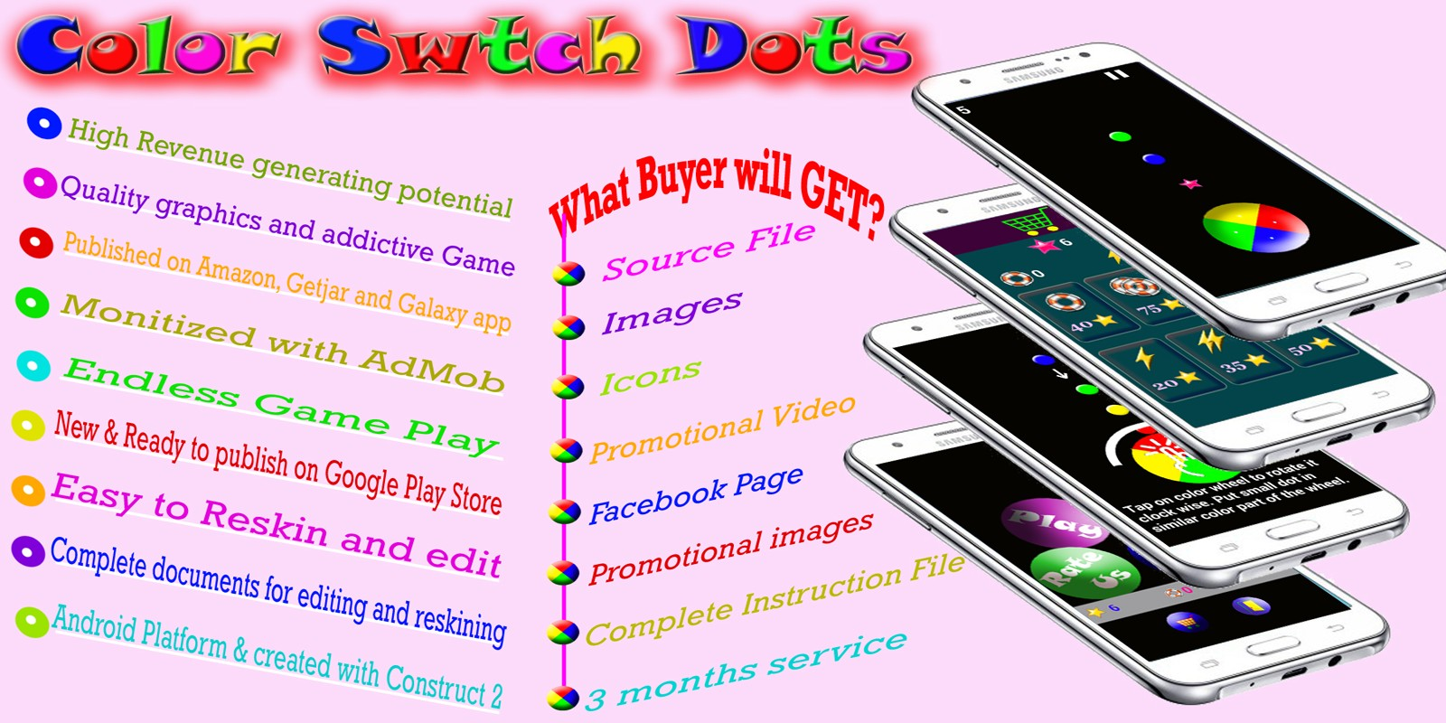 Color Switch Dots - Android Game Source Code