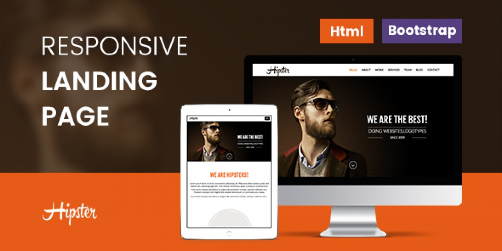 Hipster - Responsive HTML Landing Page