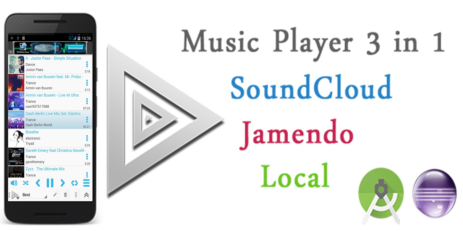 Tri Music Player - Android App Source Code