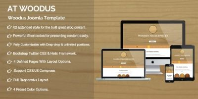 AT Woodus - Industrial Joomla Template