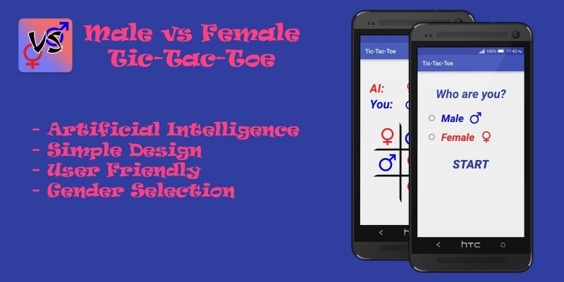 Tic Tac Toe Male Vs Female - Android Source Code
